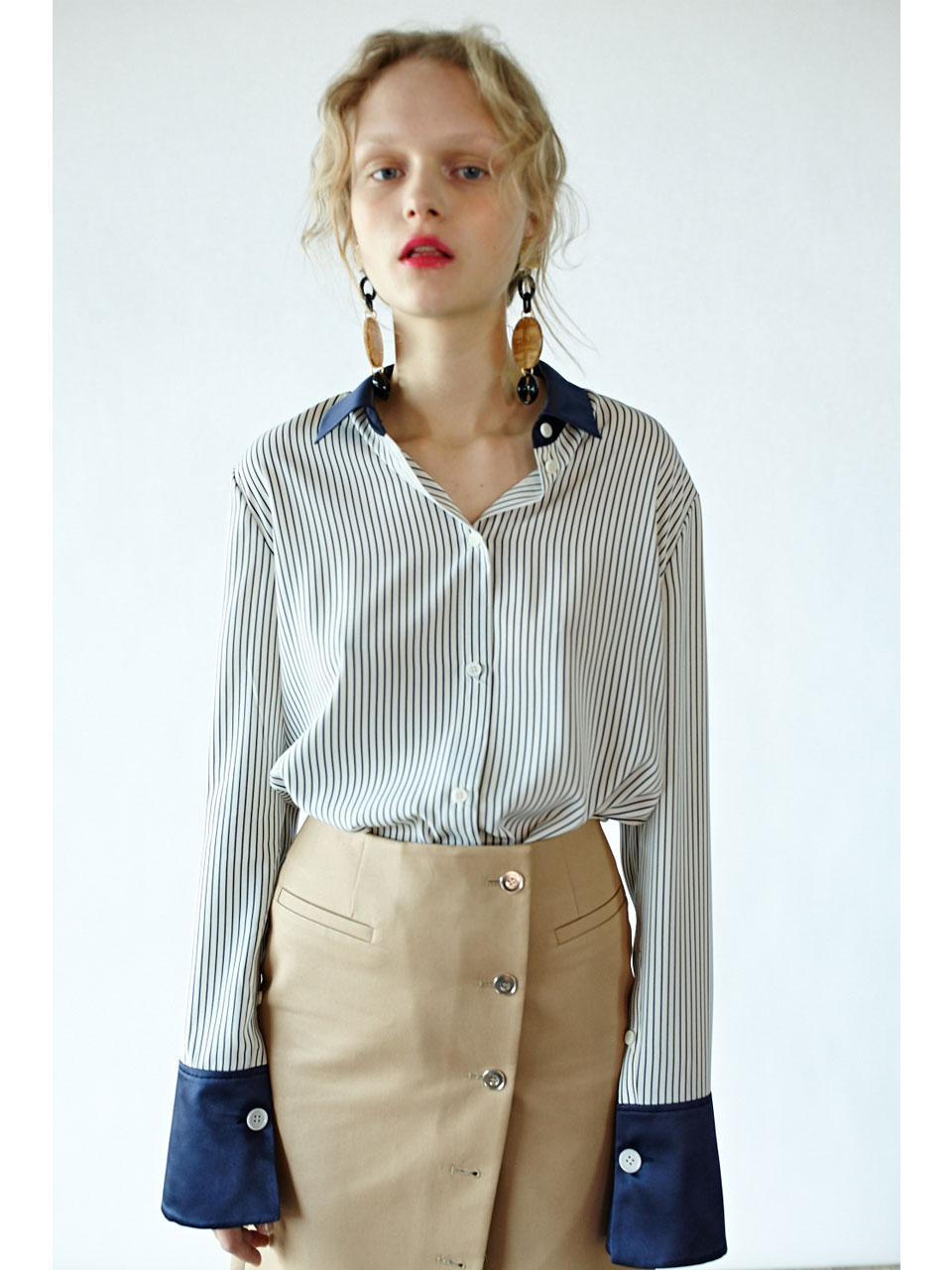 NEWING BLOUSE - BLUE STRIPE
