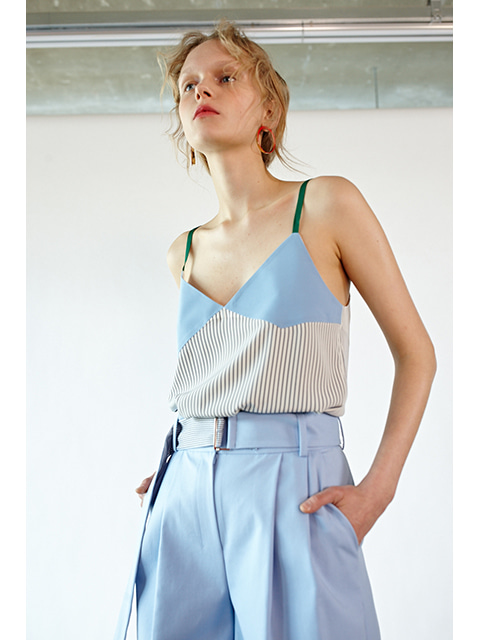 POINT SLEEVELESS - BLUE STRIPE
