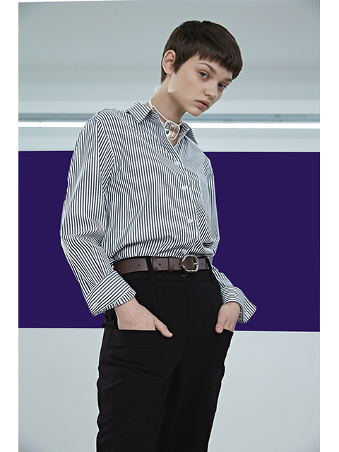 SLIM FIT SHIRTS -BLACK STRIPE