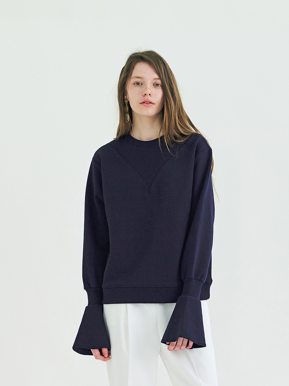 POINT SWEATSHIRT - DARK NAVY