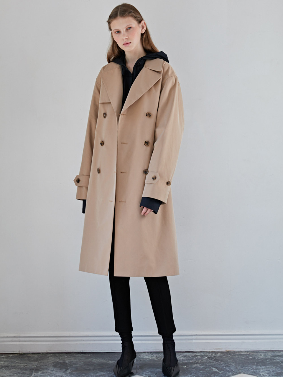 FOLDING TRENCH COAT - BEIGE