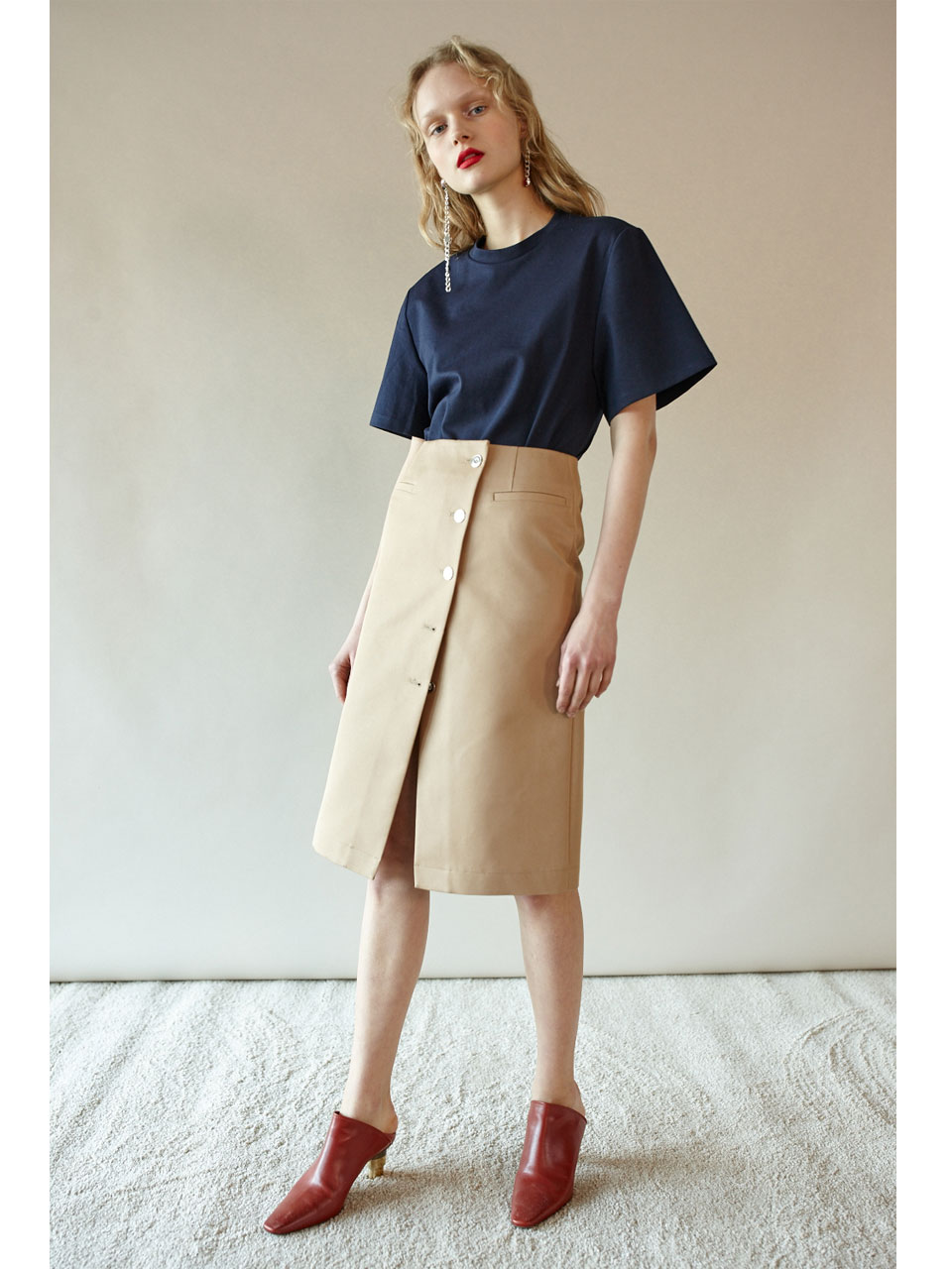 REVERSIBLE LAB SKIRT - BEIGE