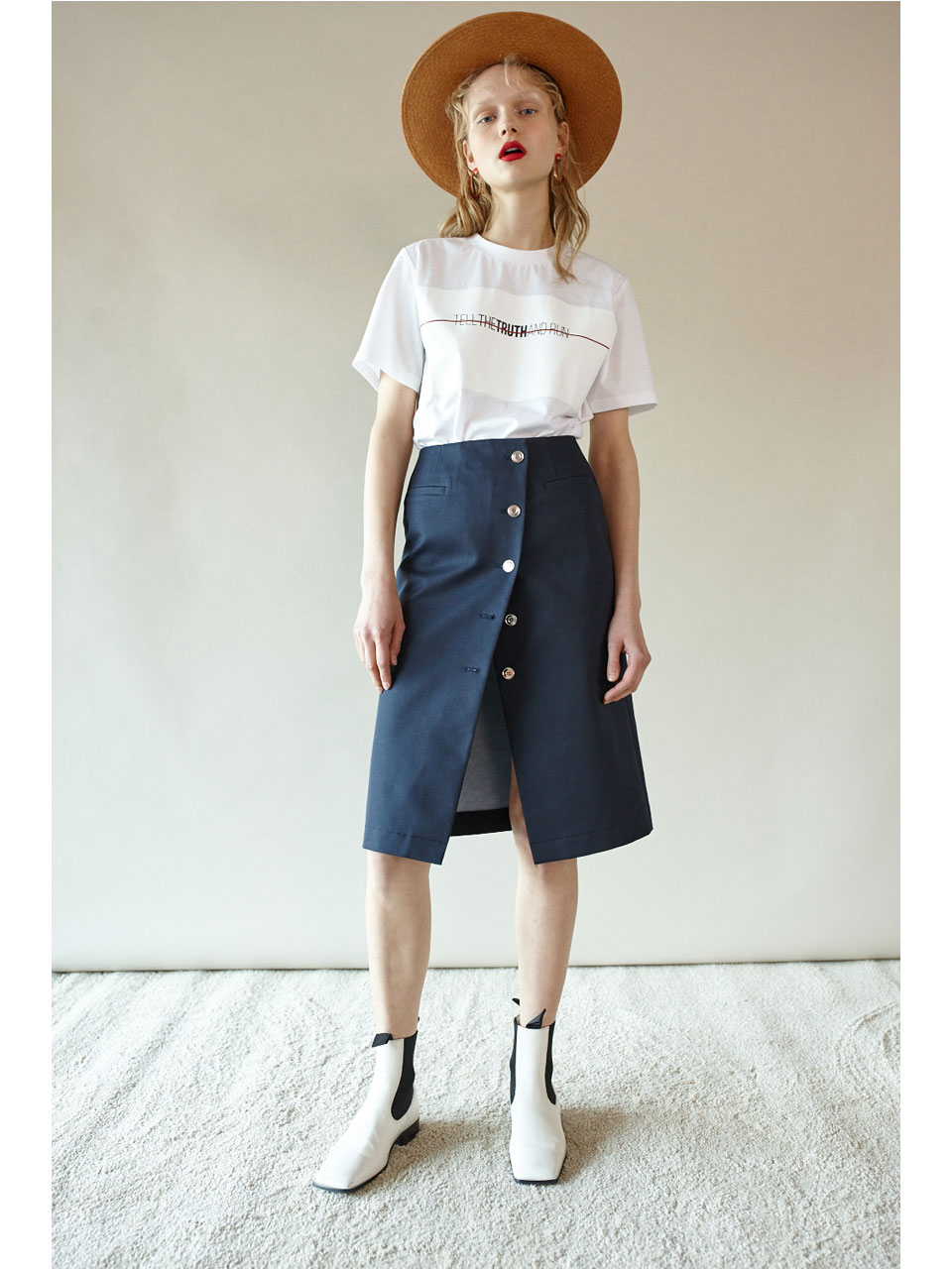 REVERSIBLE  LAB SKIRT - NAVY