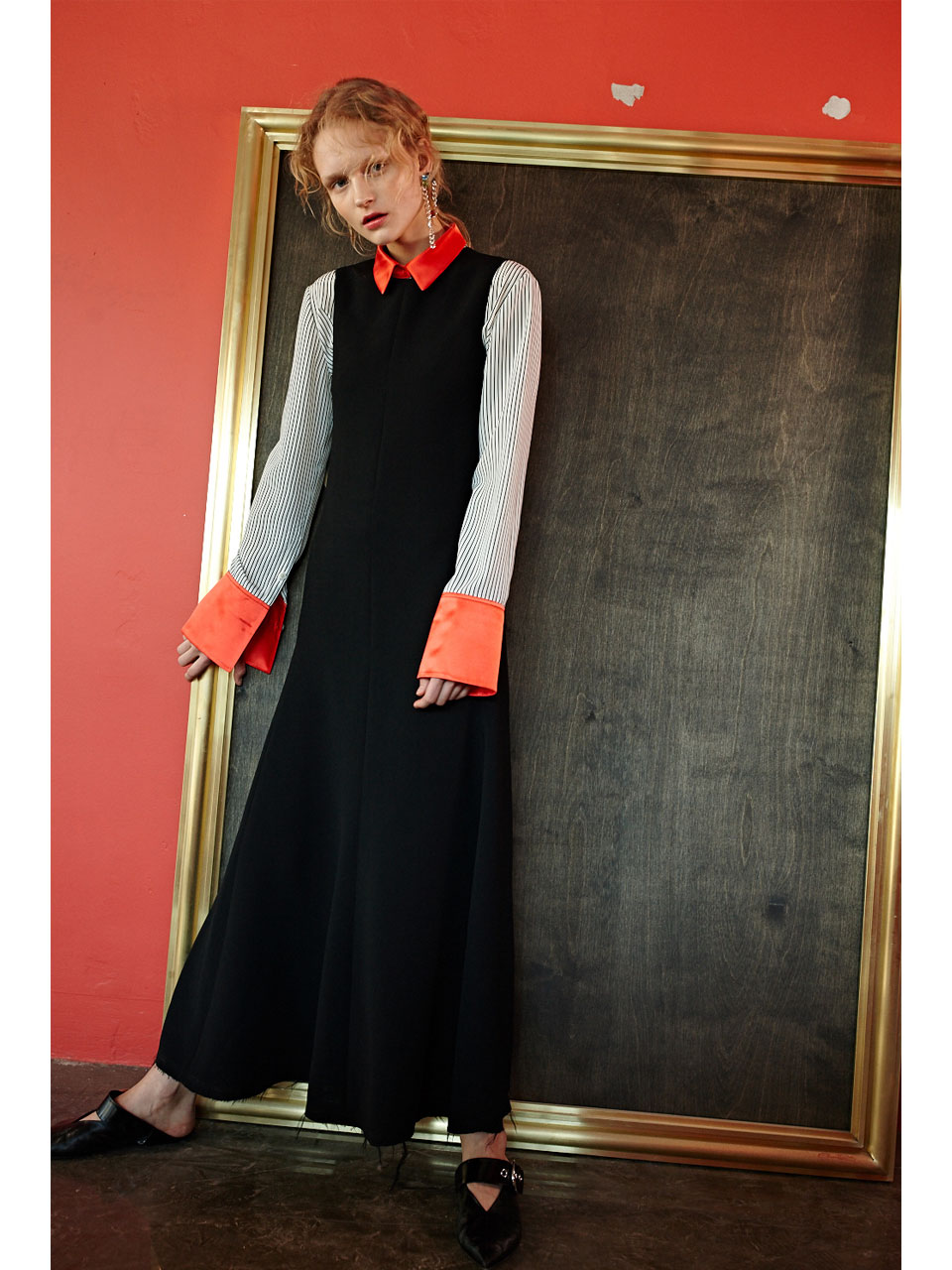 FLUID LONG DRESS - BLACK