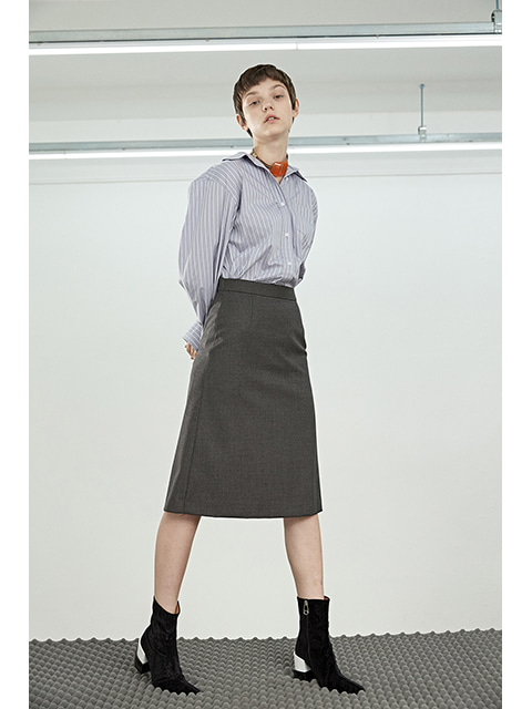 DOUBLE SKIRT - GREY