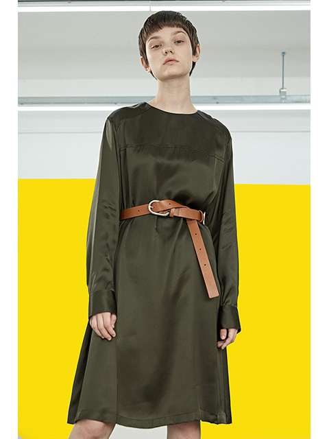 FLUID DRESS - KHAKI