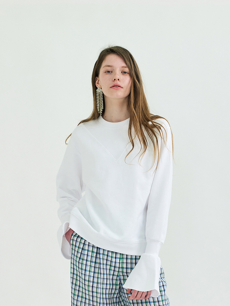 POINT SWEATSHIRT - WHITE