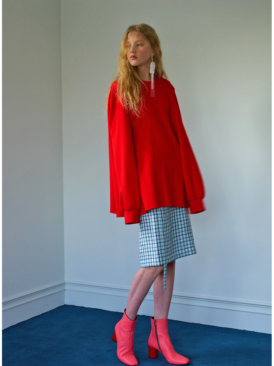 CAPE SWEATSHIRT - RED