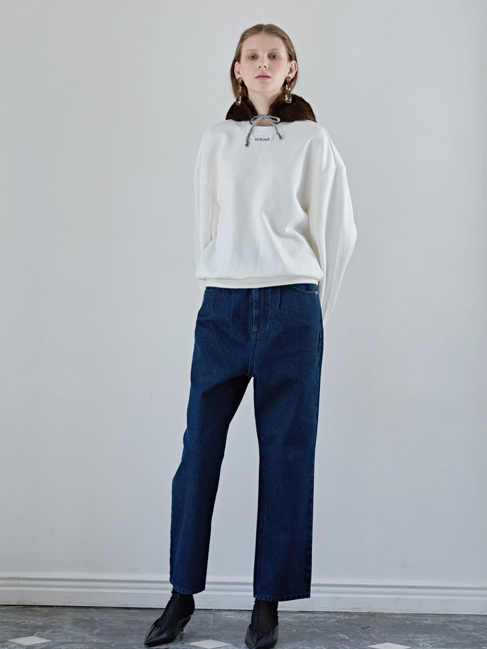 BAGGY DENIM PANTS -BLUE