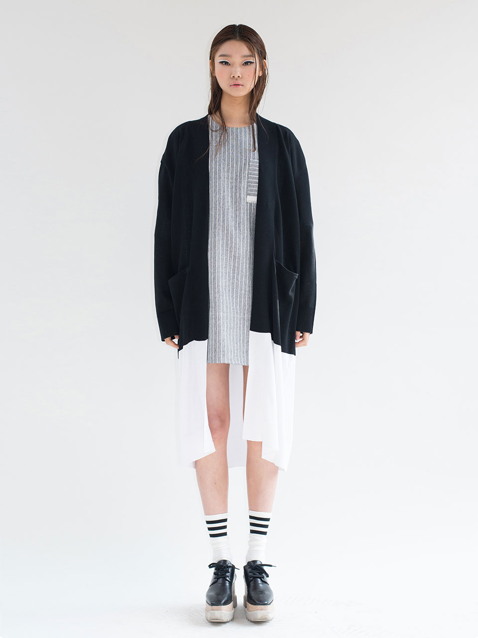 BLOCK LONG CARDIGAN
